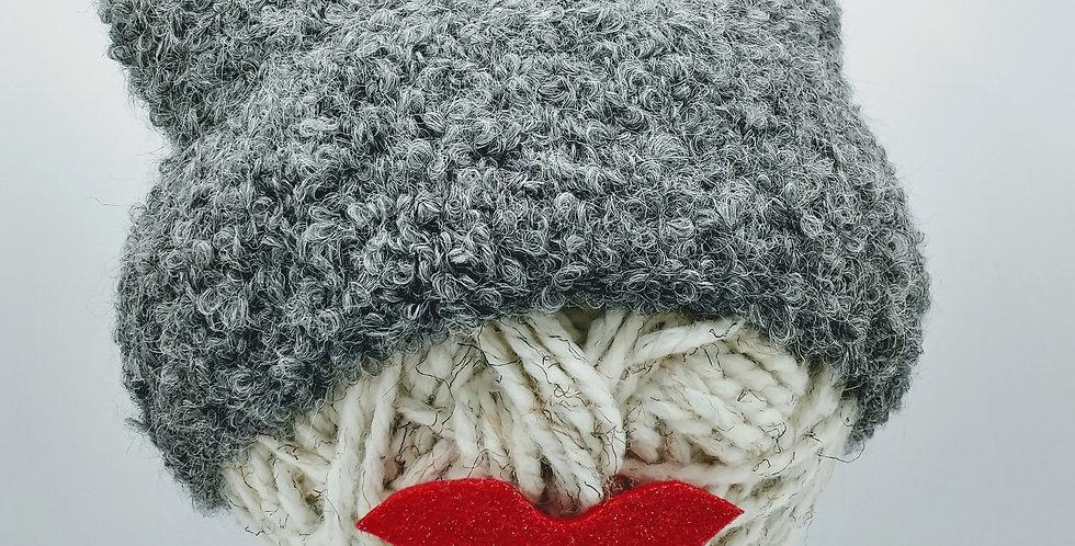 Boucle Alpaca Hat - Smokey Grey