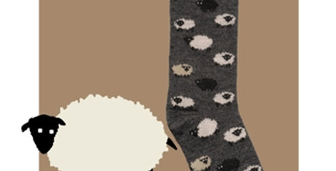 Sheep Socks made with Alpaca and Bamboo