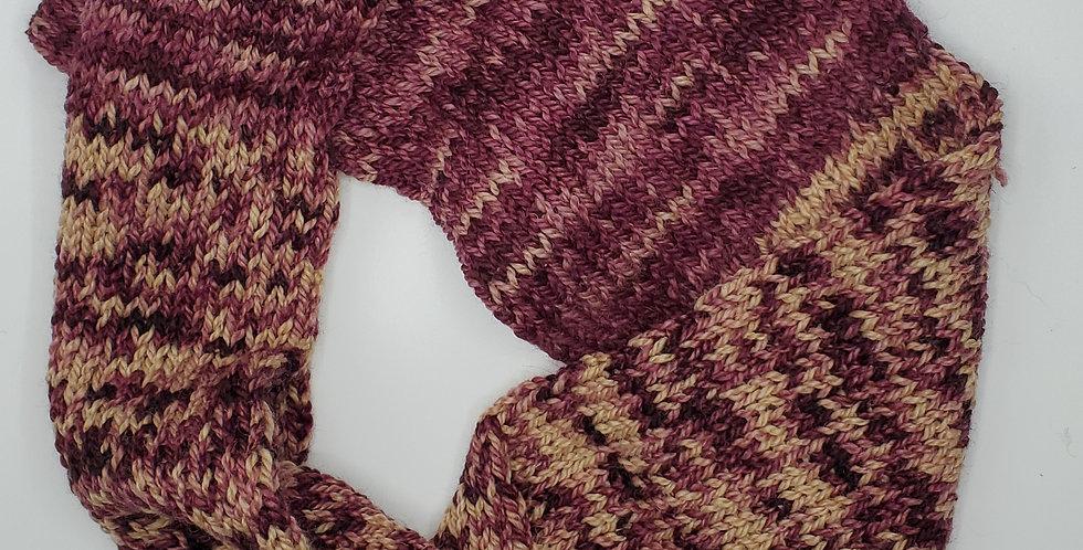 Handmade Infinity Scarf - adult -Plumb Blush