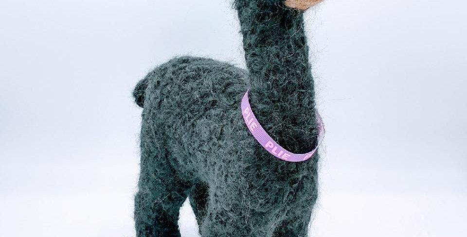 12″ Alpaca Fiber Sculpture - with Plie collar