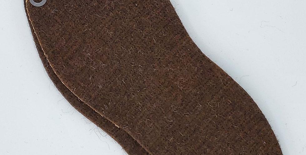 Alpaca Shoe/Boot Insoles - brown