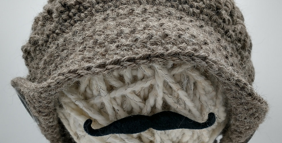 Handmade brimmed hat - rose grey