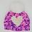 Thumbnail: Handmade children's heart hat - purple delight