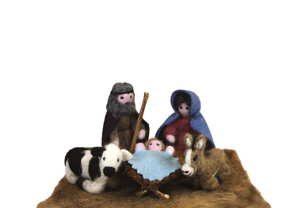 Nativity Set Alpaca Holiday Decor