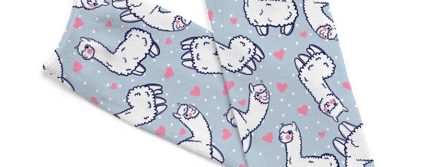 Alpaca Dreams of Love Socks