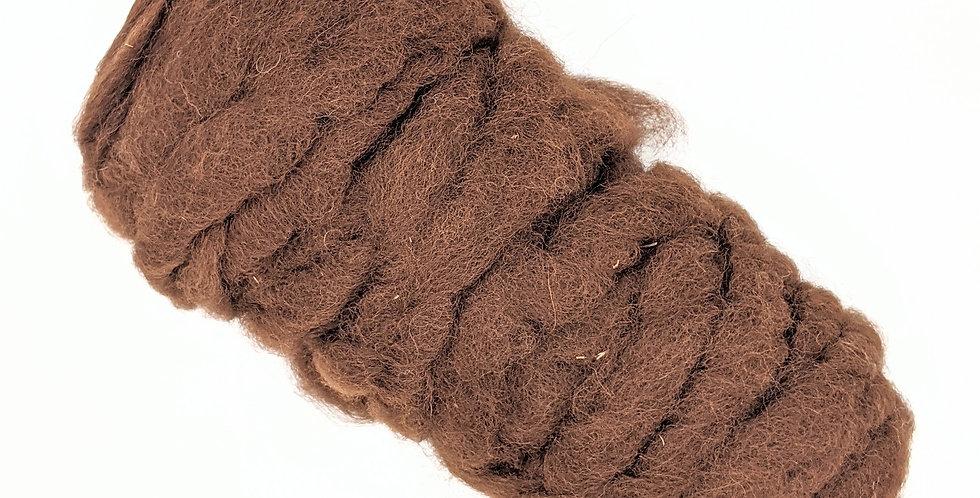 Roving - 100% Wool - 4 oz. Brown