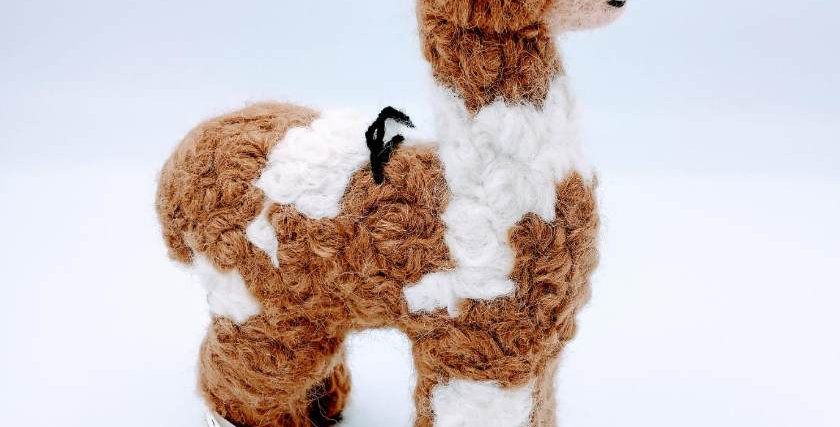 """8"""" Felted Alpaca - Spotted"""