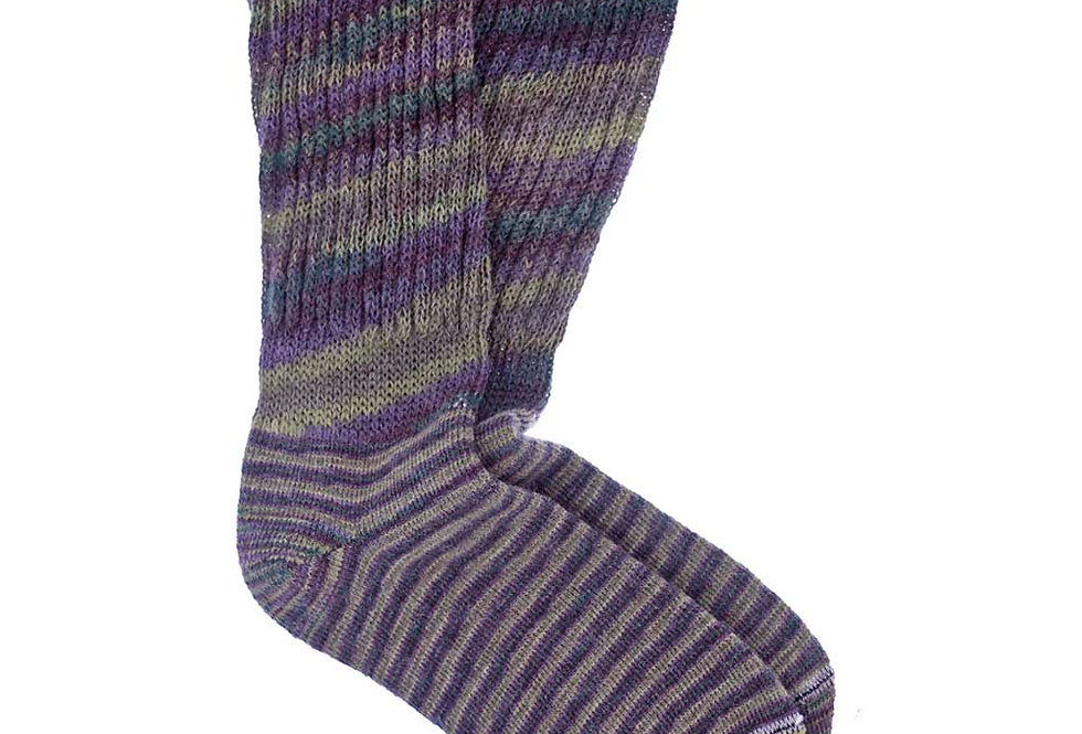 Hand Painted Therapeutic Casual Alpaca Socks - MultiColor