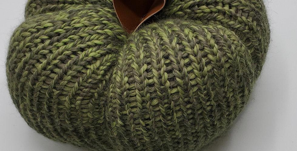 Handmade Pumpkin - large veriegated green