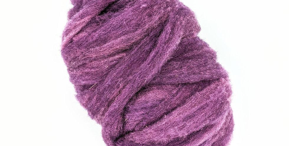 Roving - 100% Wool - 3.5 oz. Purple