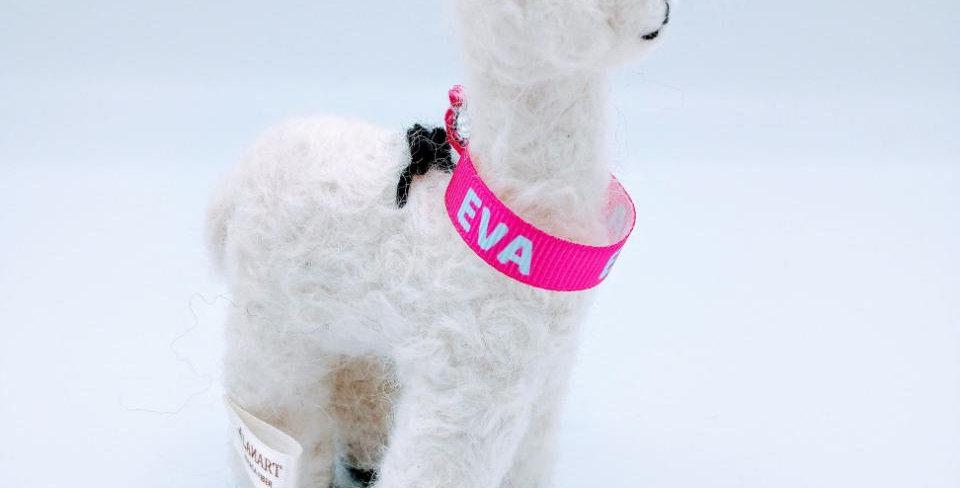 5.5″ Alpaca Fiber Sculpture - with Eva collar