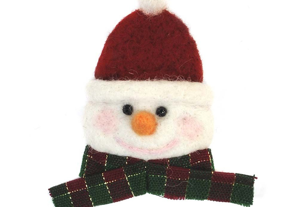 Snowman Face Alpaca Holiday Decor
