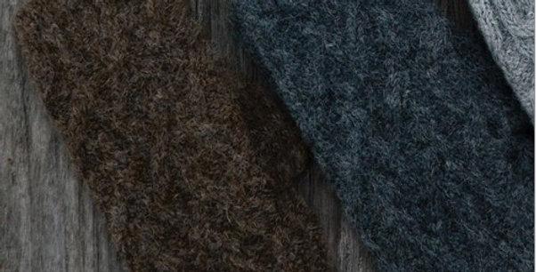 Lattice Cable Mittens - Steel Grey