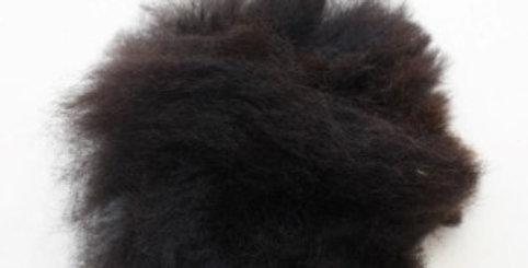 Alpaca Fuzzy Pom-Pom - Black