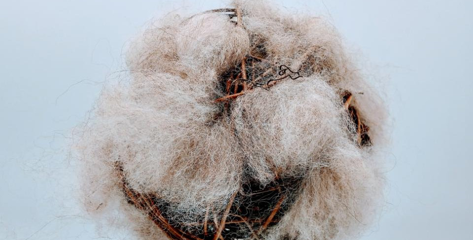 Alpaca Fiber Filled Bird Nesting Globe - Stuffed and surrounded with Fleece