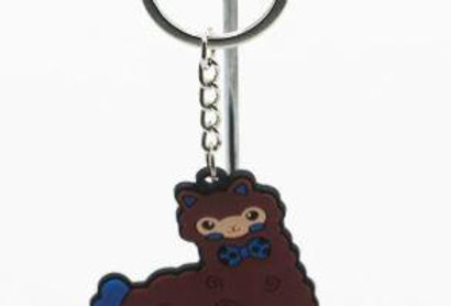 Alpaca Tag Key Chain - Brown