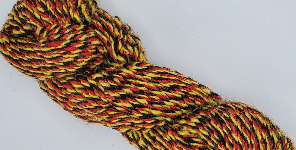 3 ply 100% alpaca yarn - Psychodelic