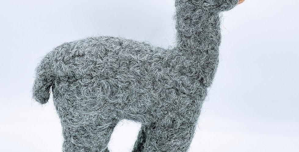 Herdsire 12″ Alpaca Fiber Sculpture - Gray