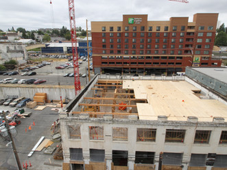 Tacoma's Brewery Blocks development on ground floor of greener, faster building movement