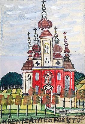 acade Nikifor-Krynicki-Kościół-z-czerwon