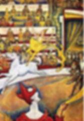 cubisme Georges-Seurat-Le-Cirque-1890-91