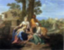 Manier Poussin La_Sainte_Famille_avec_sa