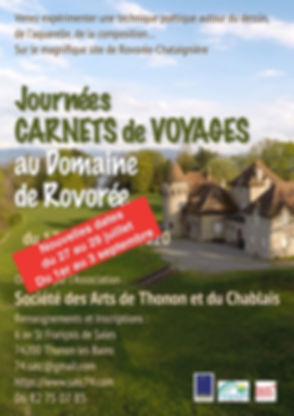 Affiche stage carnet voyage juillet 2020