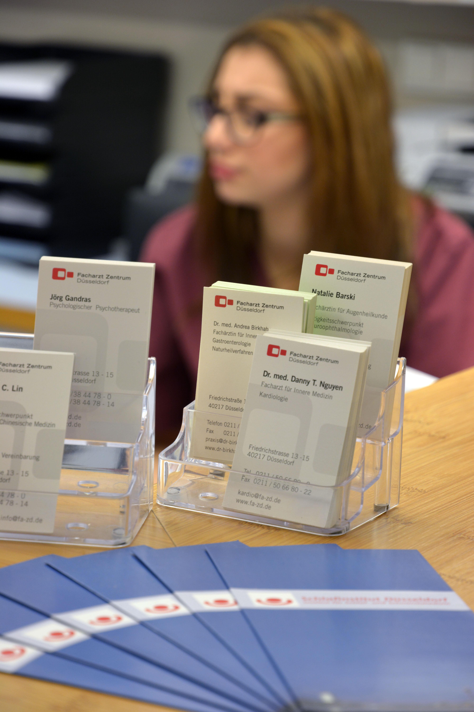 Kardiologie Duesseldorf-Rezeption2