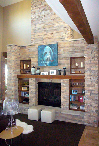 Colorado contemporary fireplace
