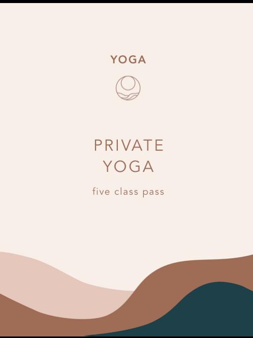 Private Yoga (5 sessions)