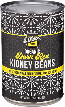 8trackfoods.com Organic Dark Red Kidney Beans