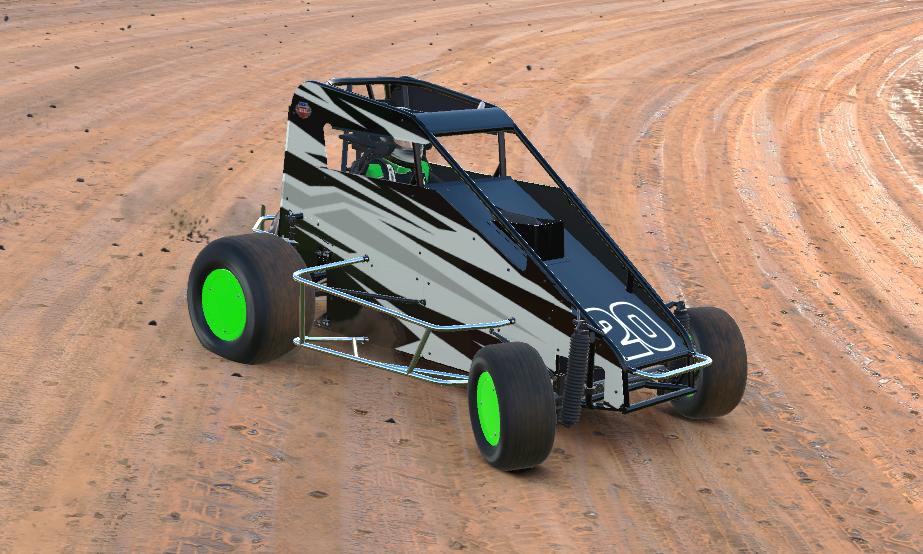 iRacing dirt midget speedway car