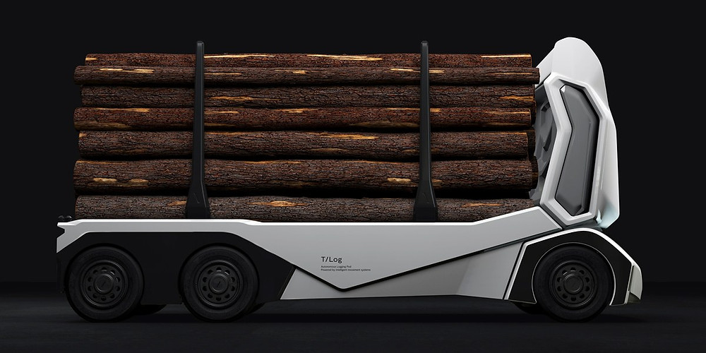 Einride T-Log automated logging truck
