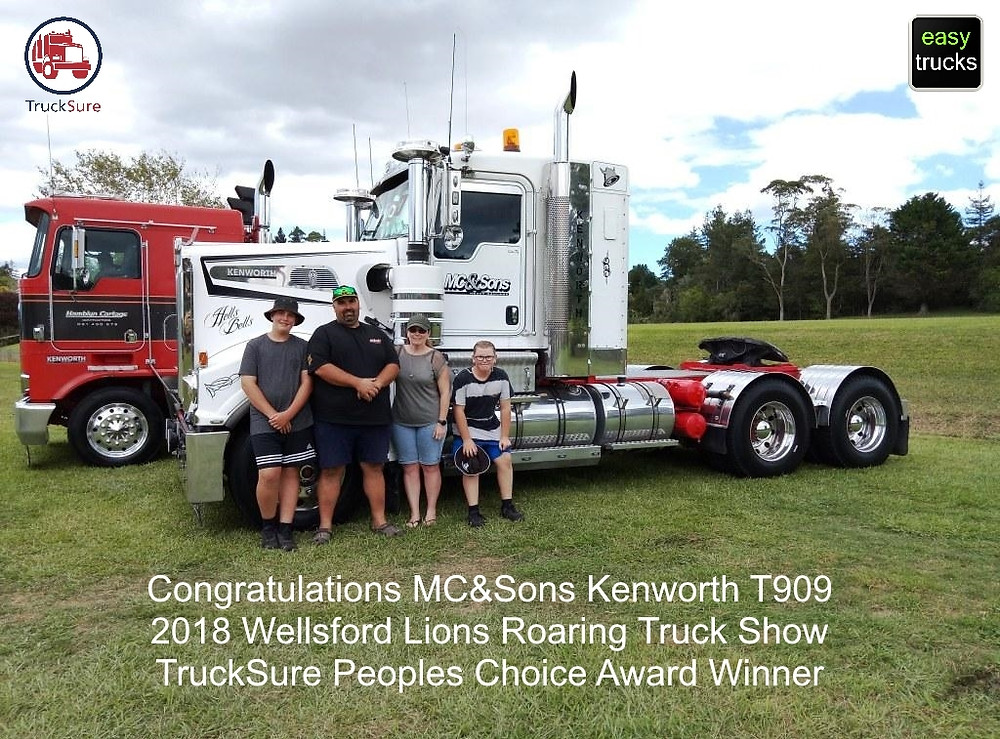 Wellsford Roaring Lions Truck Show 2018 Peoples Choice winner