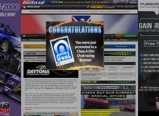 Promoted to iRacing Dirt Oval A Licence