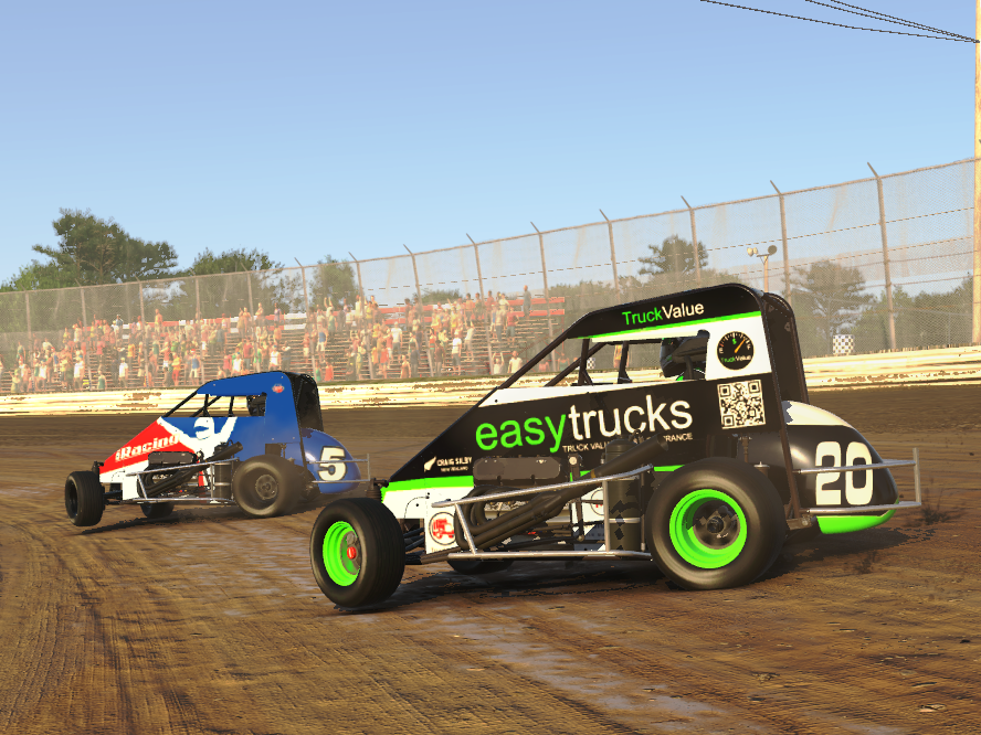 easytrucks iRacing dirt midget race car.