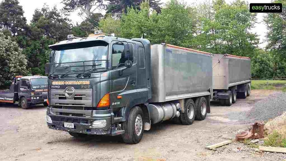 Hino 700 bulk tipper and 4 axle trailer for sale
