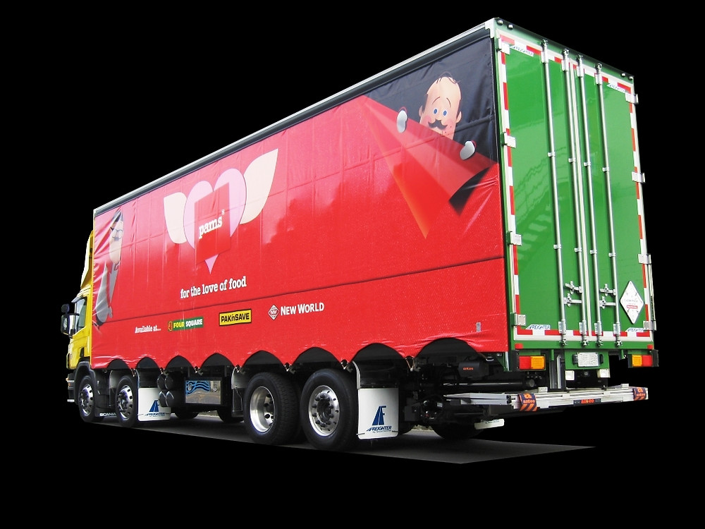 Scania 8x2 rigid curtainsider with 20 deck spaces for 1.2m x 1m pallets
