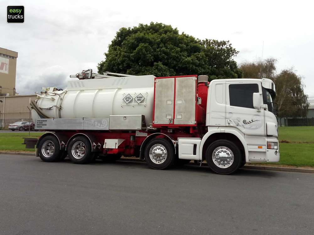 Scania Hydro-excavation vacuum tanker for sale