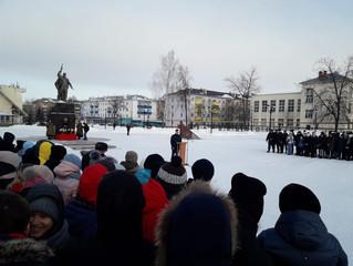 Участие студентов НМПК на митинге, посвященном выводу советских войск из Афганистана.