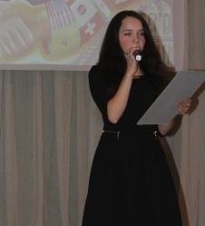 Сахибгареева Диана читает стих на немецком языке