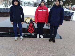 Возложение венков в честь 75-летия  снятия блокады Ленинграда