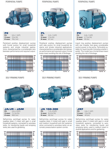 Foras-Pentax peripheral  pumps