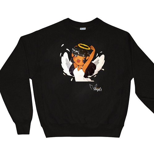 Black Girl Angel Sweatshirt