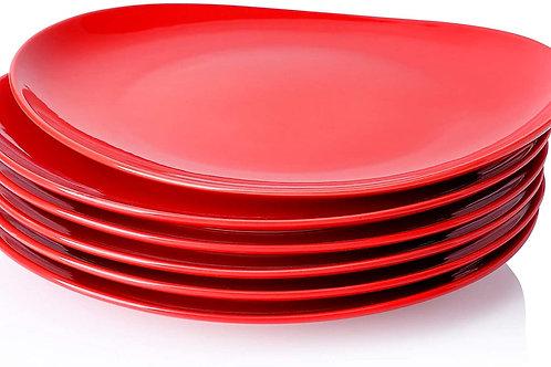 Oven Safe Porcelain Dinner Plates - 11 Inch - Set of 6