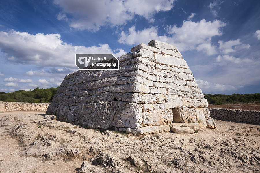The famous Naveta des Tudons is the most well preserved megalithic chamber tomb of Menorca and it is the oldest integrally preserved monument of Europe.  © Carlos Vermeersch