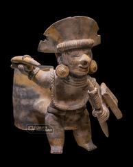 Jama-Coaque warrior pot