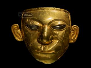 Golden funerary mask