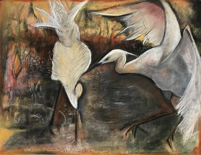 Egrets at Sea_N-28x22 950.00.jpg