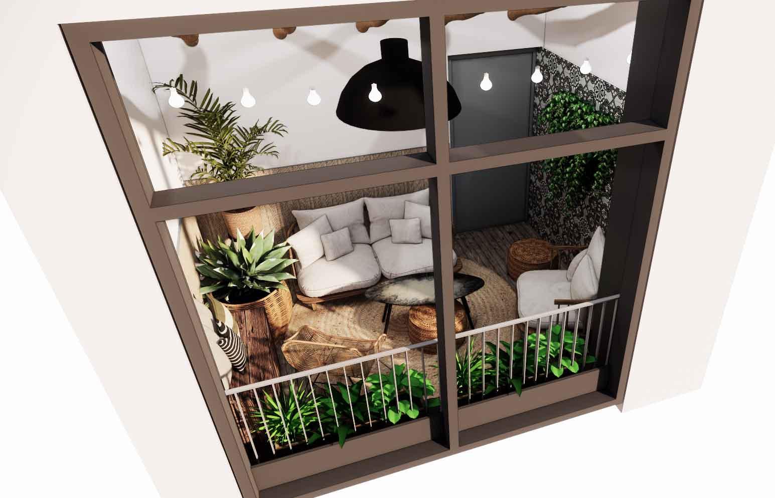 Bohemian balkon